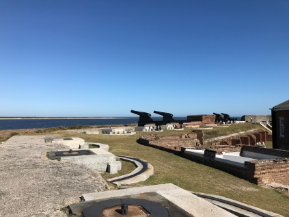 Fort with canons pointing toward the ocean