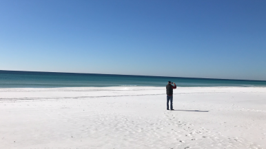 Greg taking a picture of the beautiful water