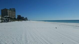 Sugar sand at Miramar Beach