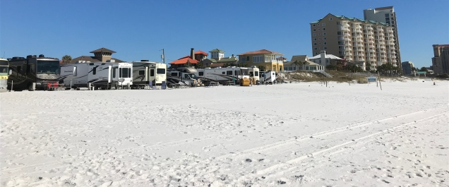 Panoramic view of the campground