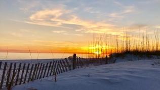 Sunset on Monday