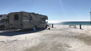 Front row of campers is actually on the beach