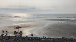 Low tide last night.