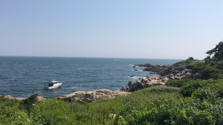 Rocky coast of Main in KenneBunkport