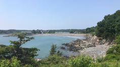 York Harbor beach from the walk