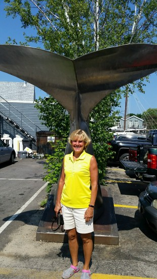 Me in Kennebunk in front of a lobster tail.