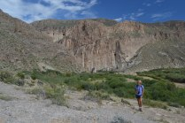 Exploring the Boquillas Canyon.