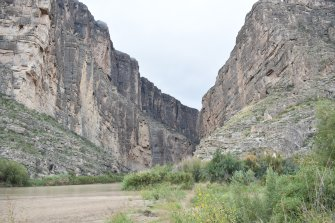 Santa Elena Canyon and the Rio Grande