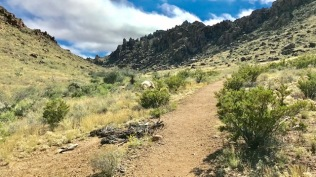 Trail to the balanced rock