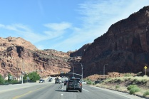 Driving toward Arches